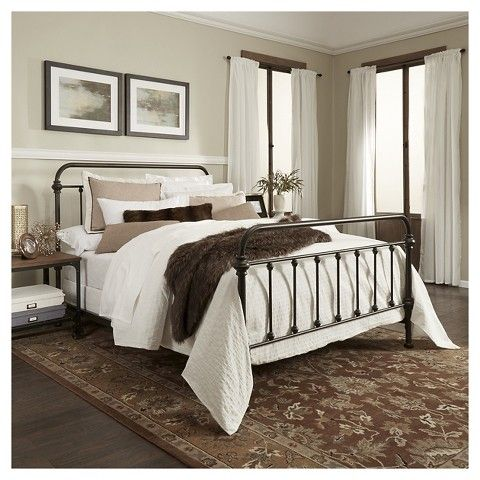 Tilden Standard Metal Bed Bronze Queen Home Metal