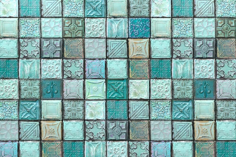 Wall Paneling Decorative Print Collection Colors The