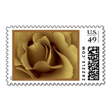 Elegant Antique Gold Wedding Rose Stamp Www Zazzle Jaclinart
