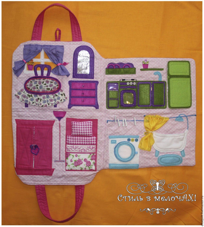 Сумочка-домик для куклы – заказать на Ярмарке Мастеров ...