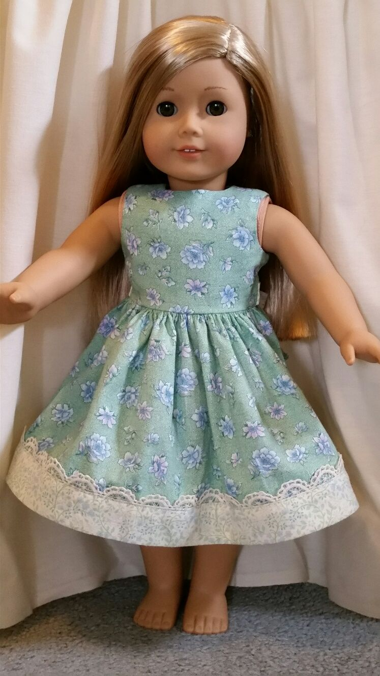 This homemade summer party dress for American Girl dolls is ...