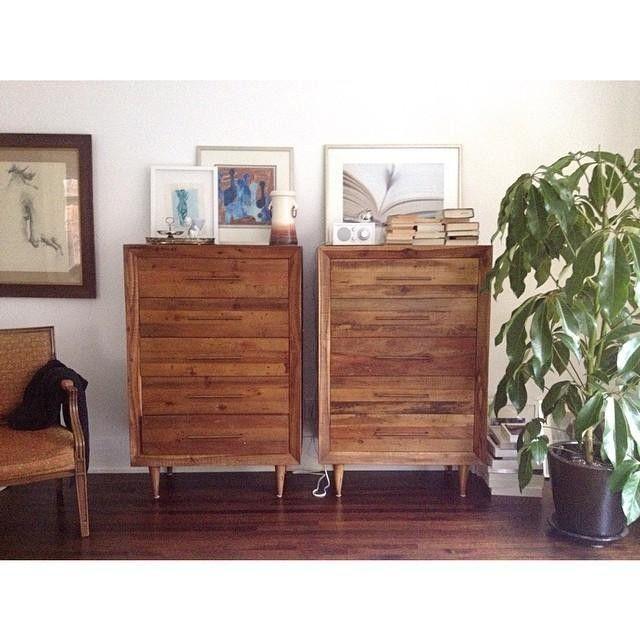 alexa 5 drawer dresser light honey reclaimed wood
