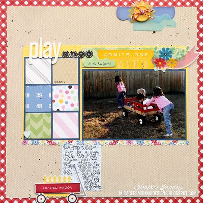 Play Date In The Backyard: Scrapbook Layout