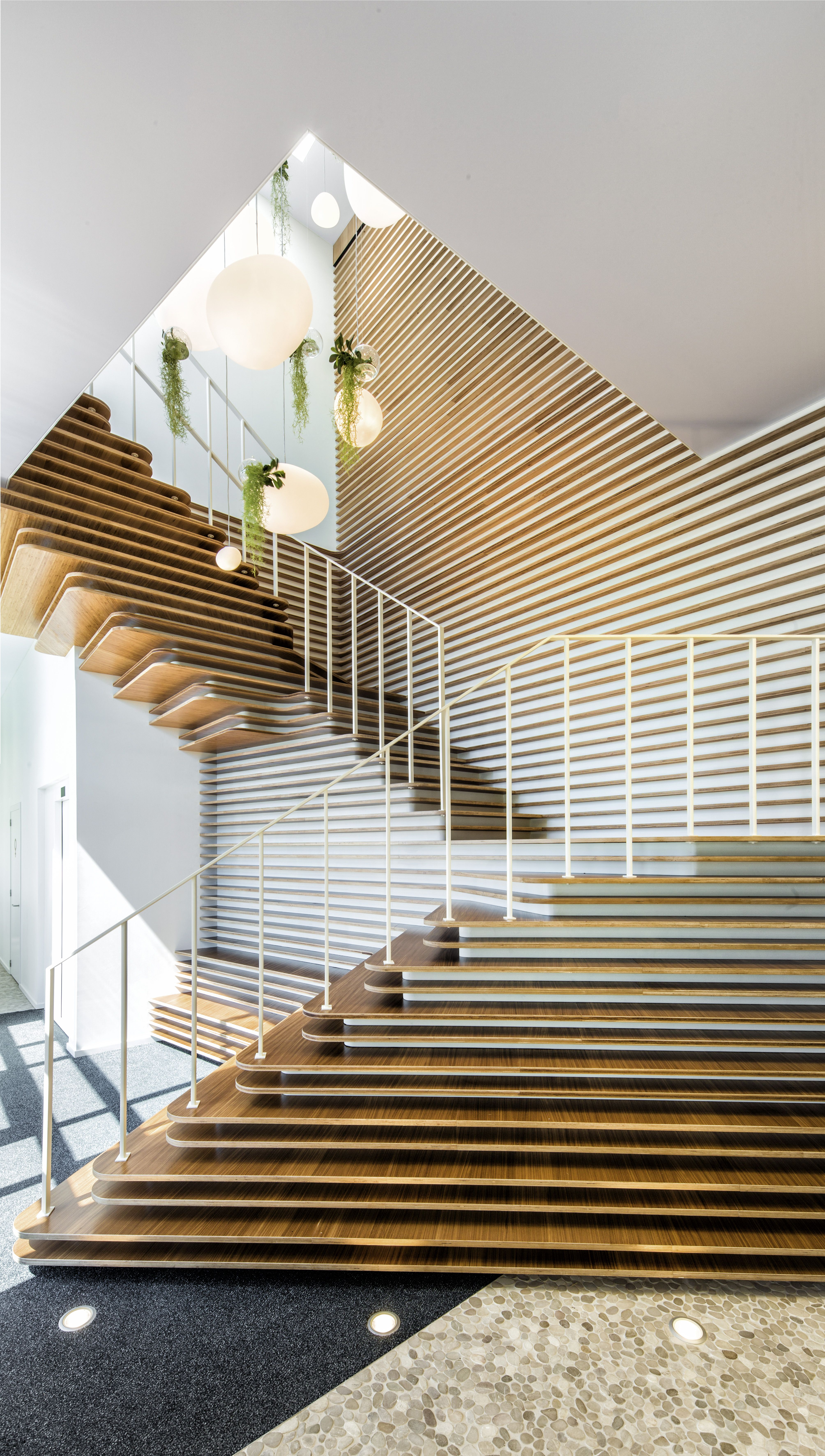 Decospan treehouse wood veneer samples experience zone for interior architects designers
