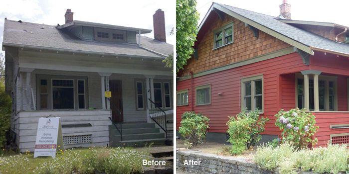 Portland Cedar Siding Replacement Contractor Shingle House Exterior Cedar Siding Exterior Wall Siding