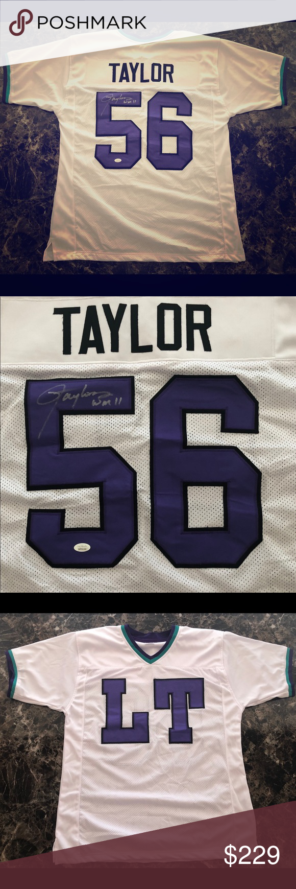 """Autographed Custom Lawrence Taylor """"LT"""" Jersey NWT"""