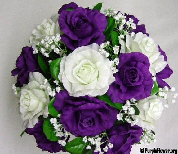wedding flowers in purple and green | significance of purple flower ...