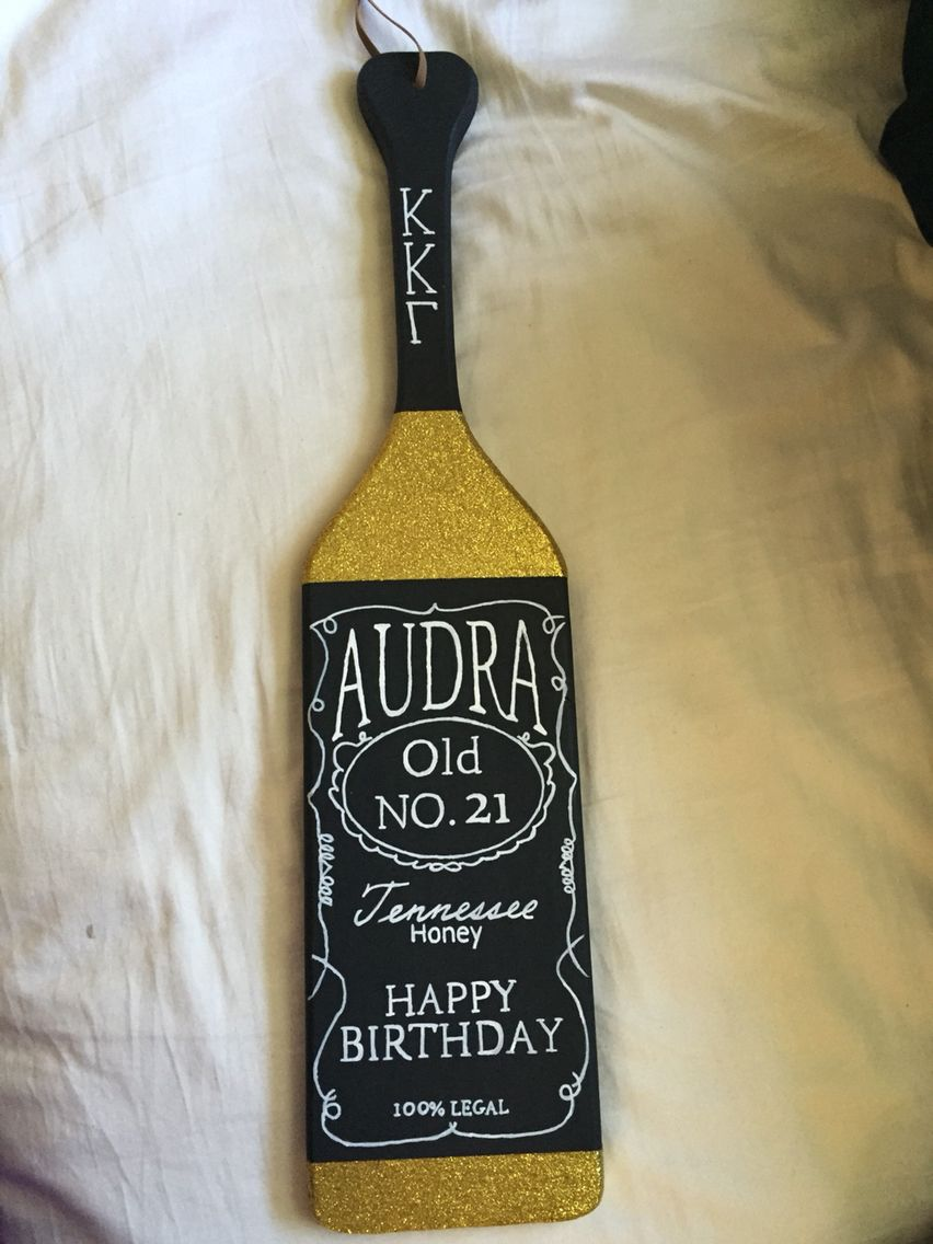 Jack Danielu0027s inspired 21st birthday paddle & Jack Daniels sorority paddle | Sometimes Iu0027m crafty ? | Pinterest ...