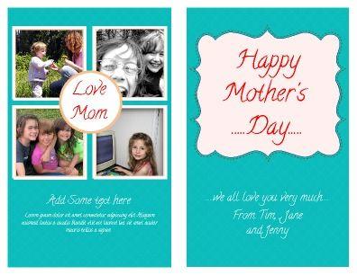 half fold greeting card template