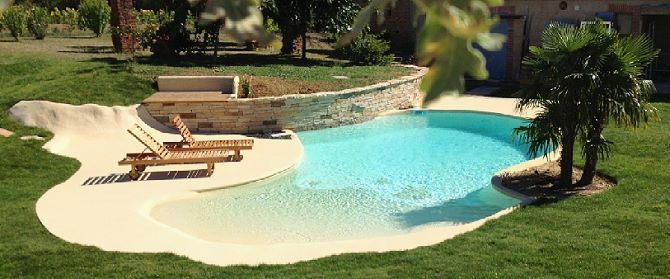 Plage immerg e pour cr er une piscine unique ou atypique for Bac filtration piscine