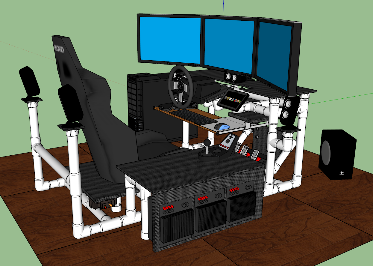 racing simulator chair plans mid century dining chairs click this image to show the full size version pc