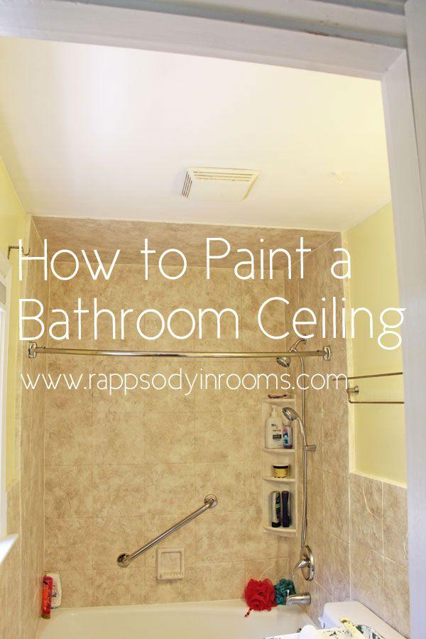How to Paint a Bathroom Ceiling   Bathroom ceilings, Ceilings and ...