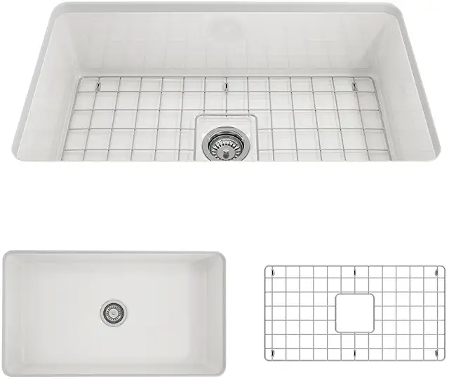 Amazon Com Fireclay Undermount Kitchen Sink With Images