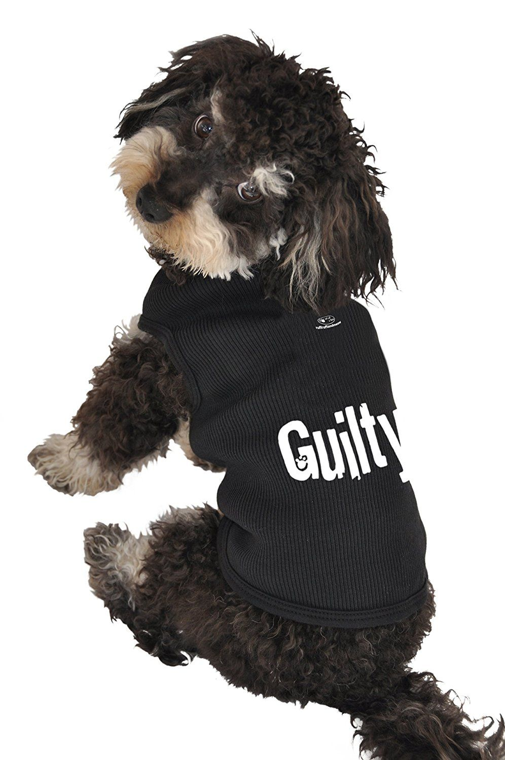 Ruff Ruff and Meow Dog Tank Top, Guilty, Black, Extra