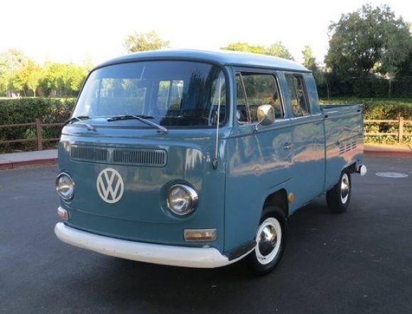 23a8cbde71 1968 Voklswagen Bay Window Double-Cab Kombi Velha