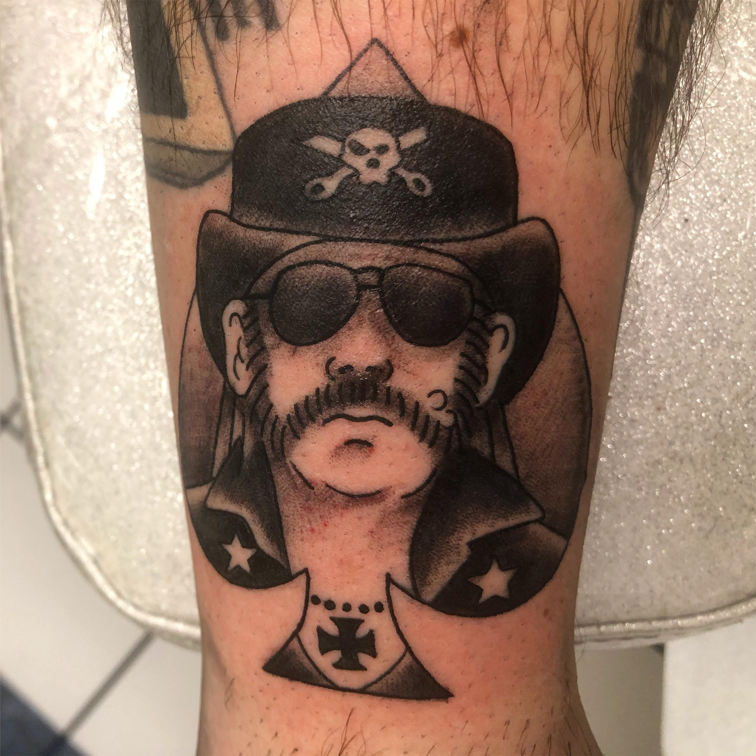 Lemmy Kilmister by Ian at Tattoo Charlies Louisville
