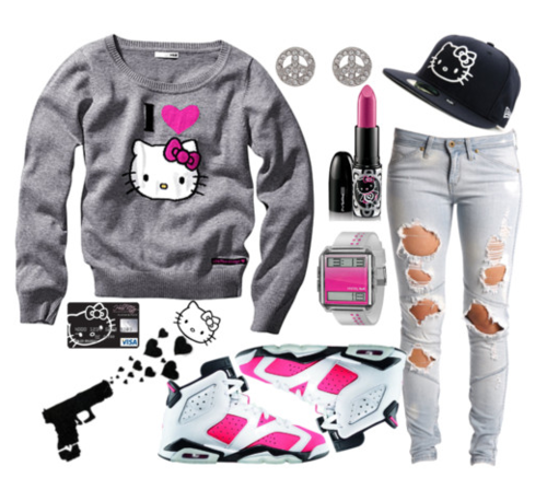what a cute outfit ... wish i were still in high school so it'd make sense for me to wear it!