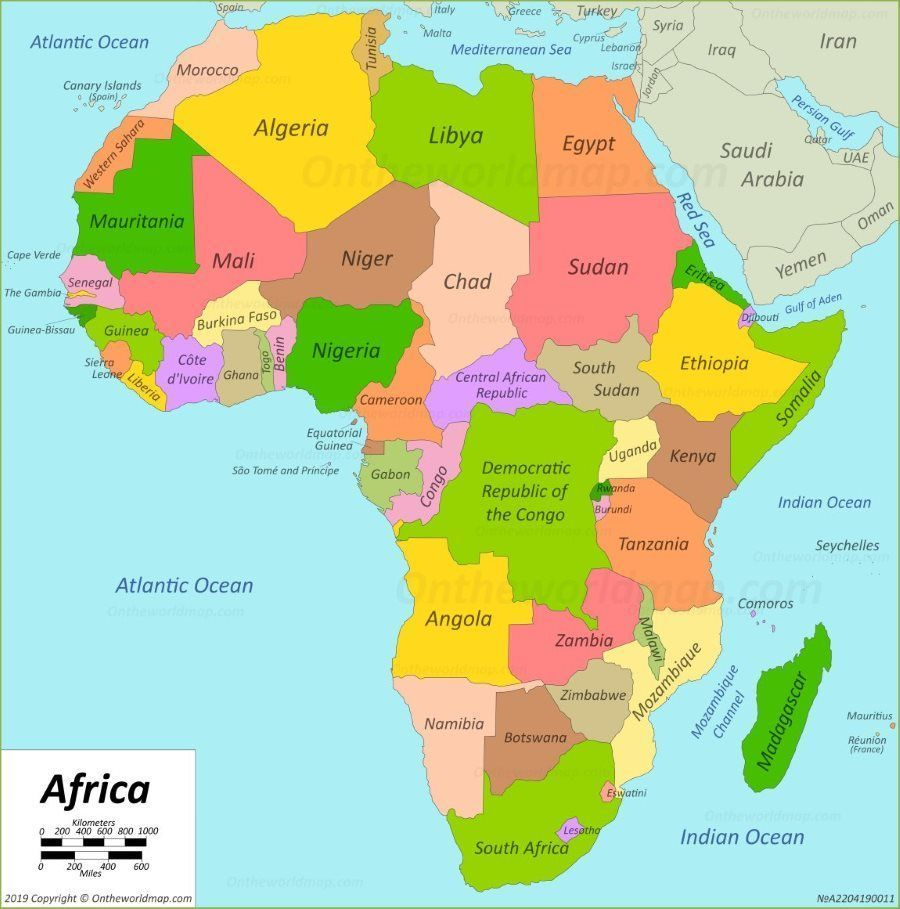 Map Africa Africa map Map of Africa, #Africa #menu #africa #Map in 2020