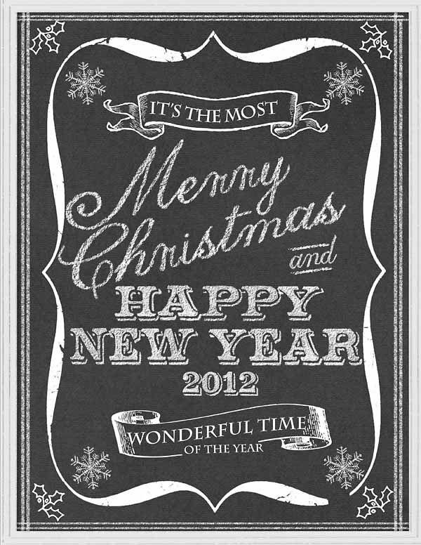 Merry Christmas Chalkboard Art - Digital Scrapbooking Ideas - DesignerDigitals Snowflakes