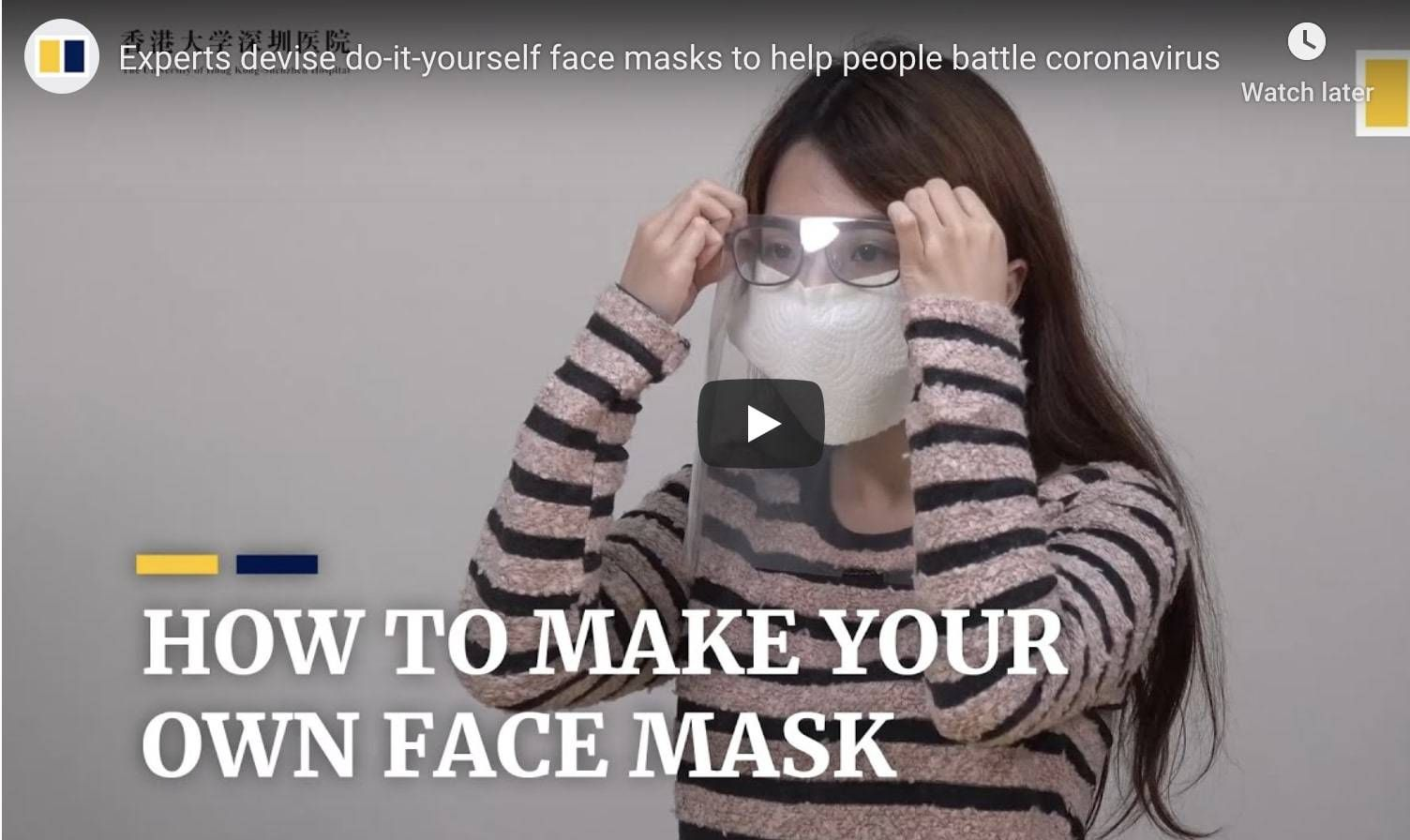 Here's a DIY Way to Make Your Own Protective Face Mask in