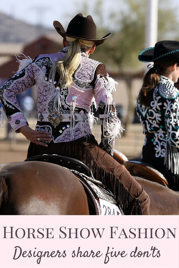Learn What Horse Show Clothing Designers Deem As Show Ring