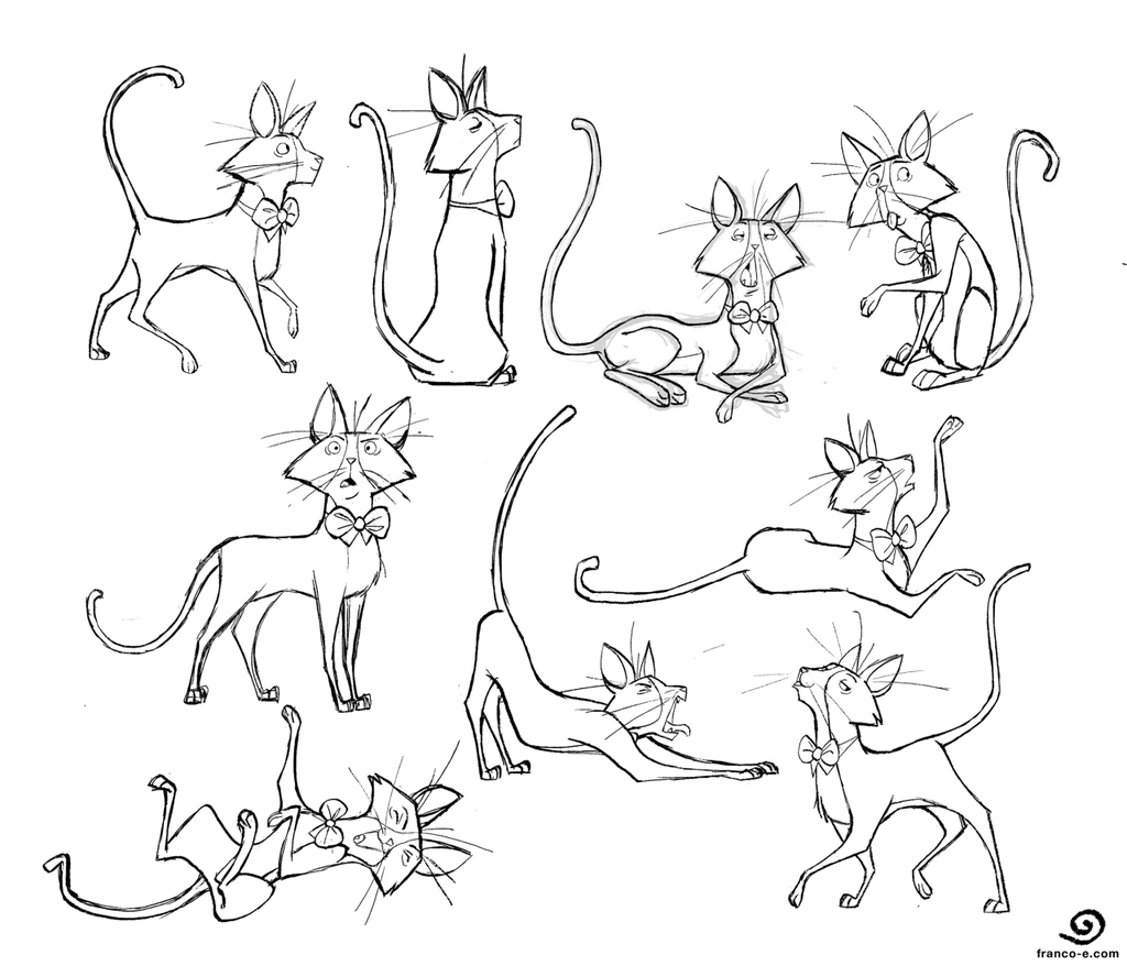 Bowtie Cat- Poses by chillyfranco on DeviantArt