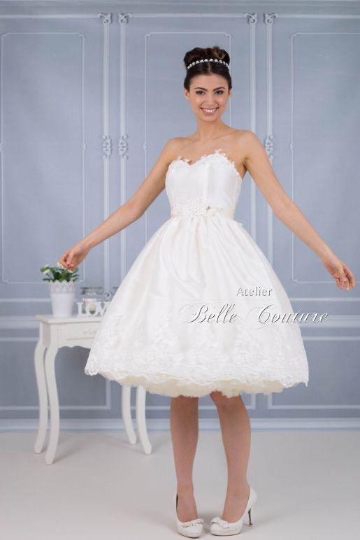 Atelier Belle Couture   Vintage Brautkleid mit Spitze und Tüll ...