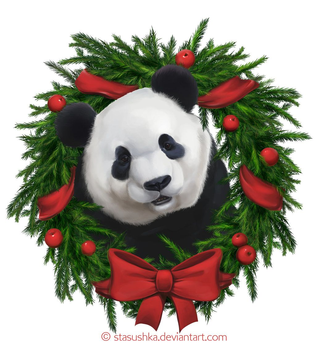 новогодние картинки с пандами внеземной