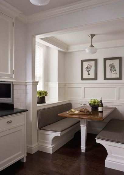 John Bmurray Architect Banquette With Built In Table  Dream New Kitchen Booth Table Inspiration