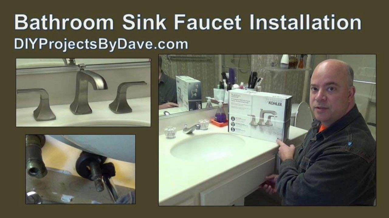 How to remove & install a bathroom faucet (pedestal sink ...