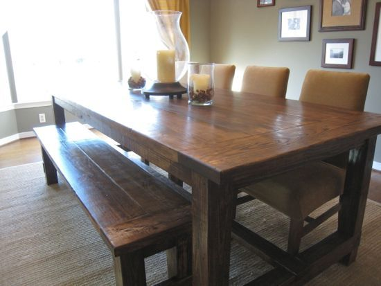 how to make your own farmhouse dining table house pinterest rh pinterest com Build Your Own Farmhouse Table how to make your own farmhouse kitchen table