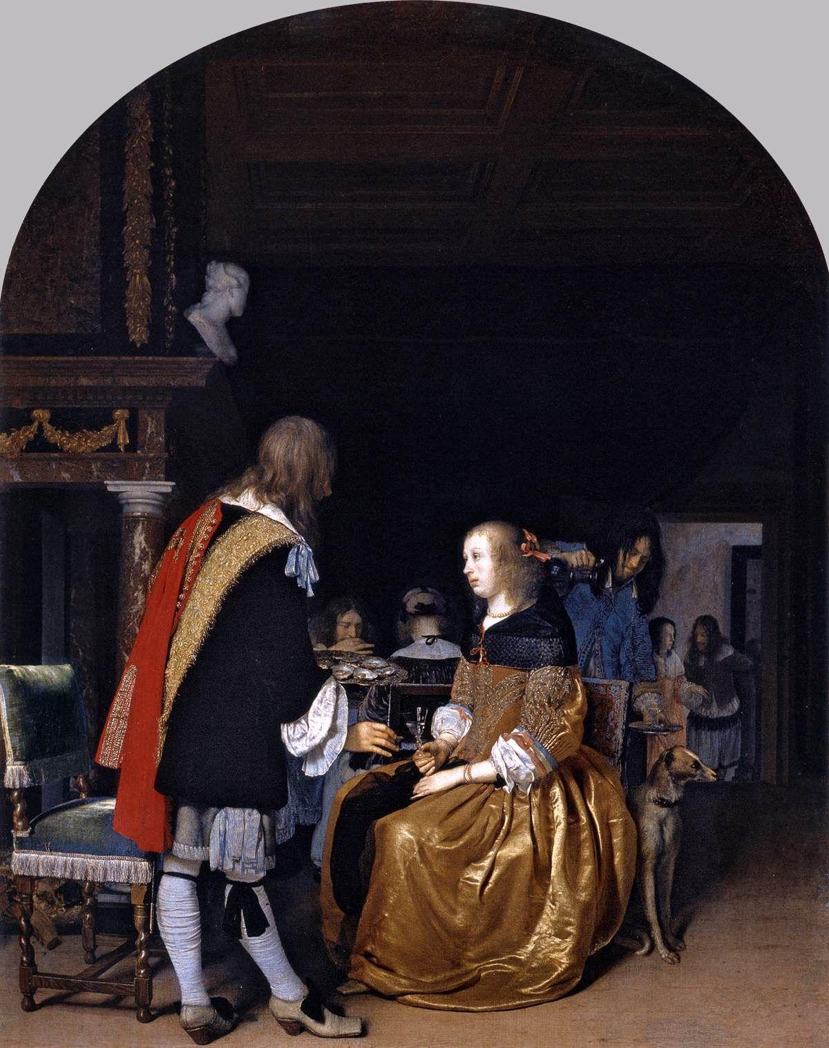 MIERIS, Frans van, the Elder Oyster Eaters 1659