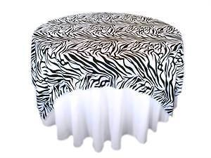 Zebra safari square table overlay 72x72 wedding decoration jungle zebra safari square table overlay 72x72 wedding decoration jungle junglespirit Images