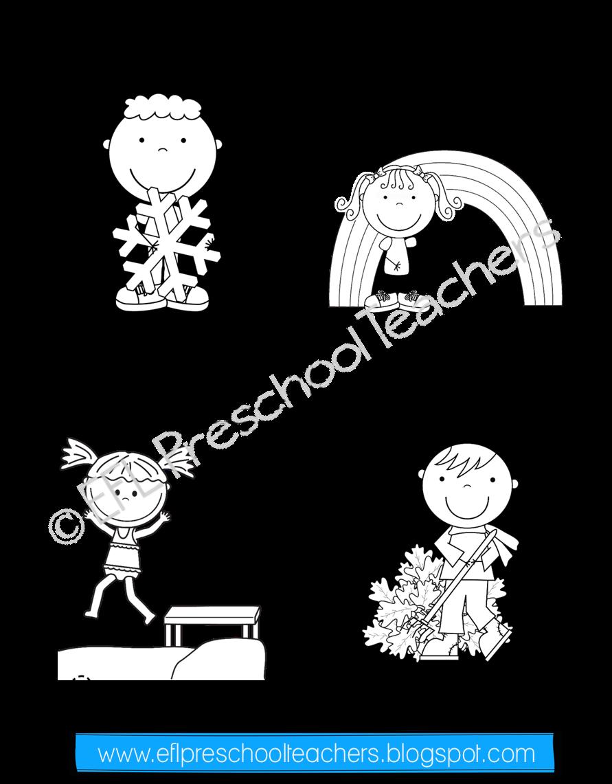 Esl Seasons Worksheets Seasons Worksheets Elementary Special Education Activities Preschool [ 1141 x 891 Pixel ]