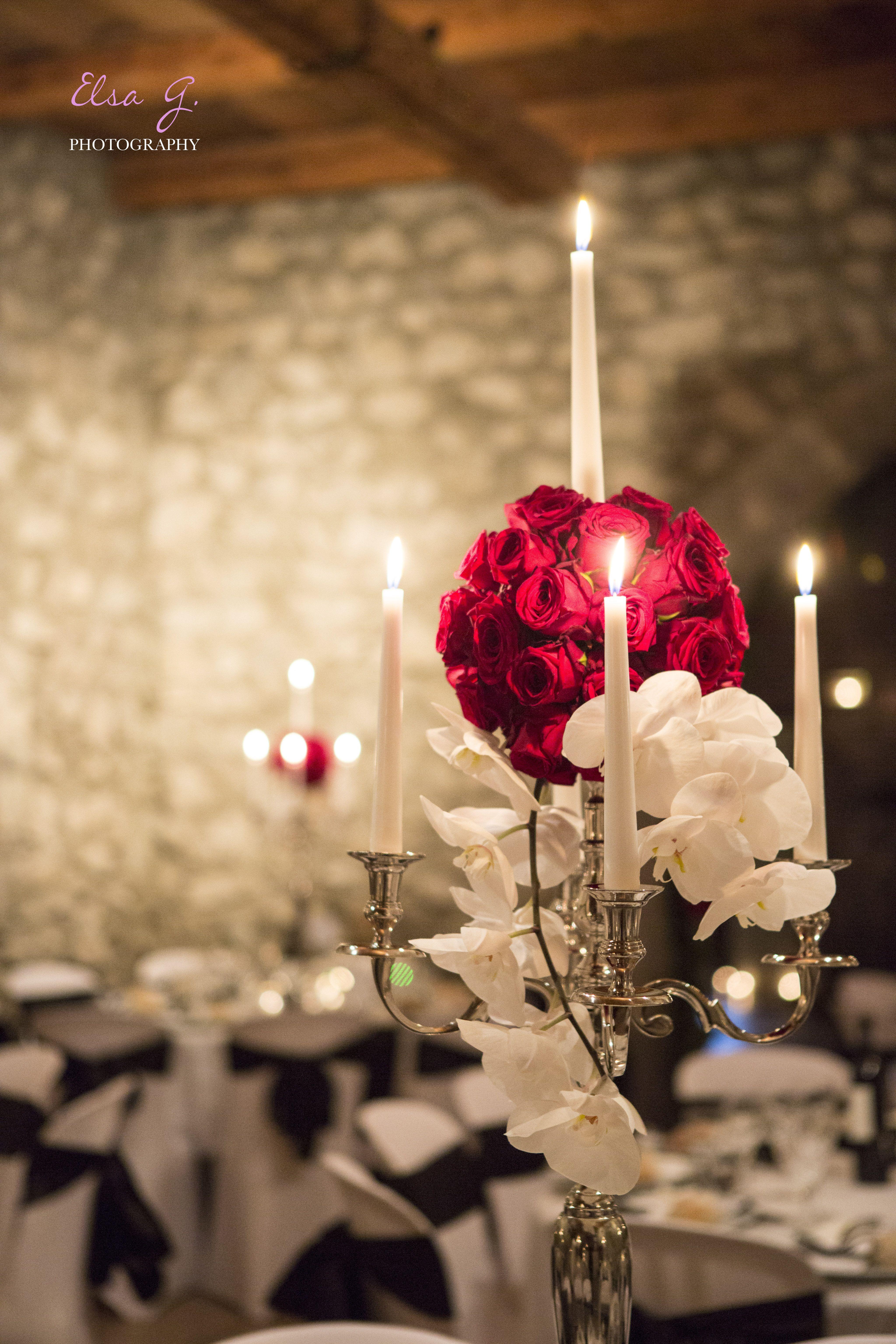décoration mariage, décoration florale, mariage rouge et blanc