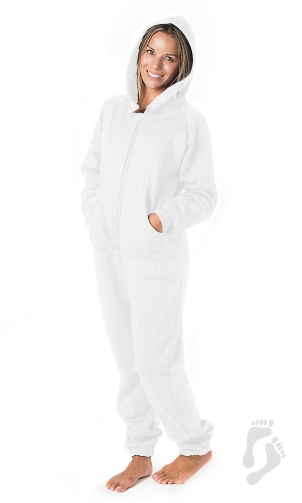 3d2797a8f White Frosting Adult Footless Hoodie One Piece - Adult Hooded ...