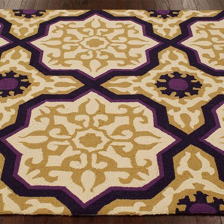 Lisa rug 100 wool rug purple and yellow rug eggplant for Rugs with purple accents