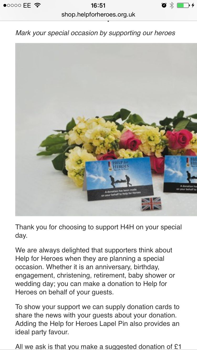 Help for heroes charity pin wedding favours | Wedding ideas ...
