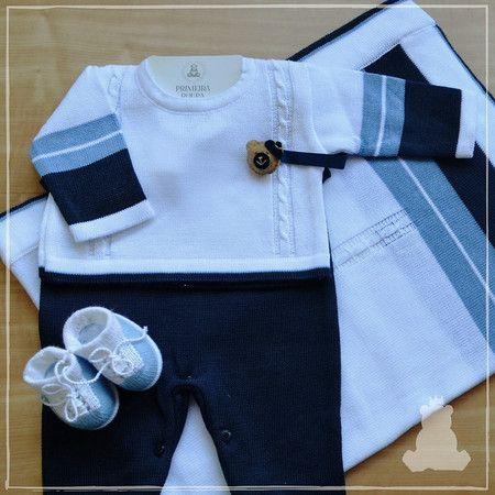 Saída de Maternidade Masculina 3 Peças - Azul e6a7789163a