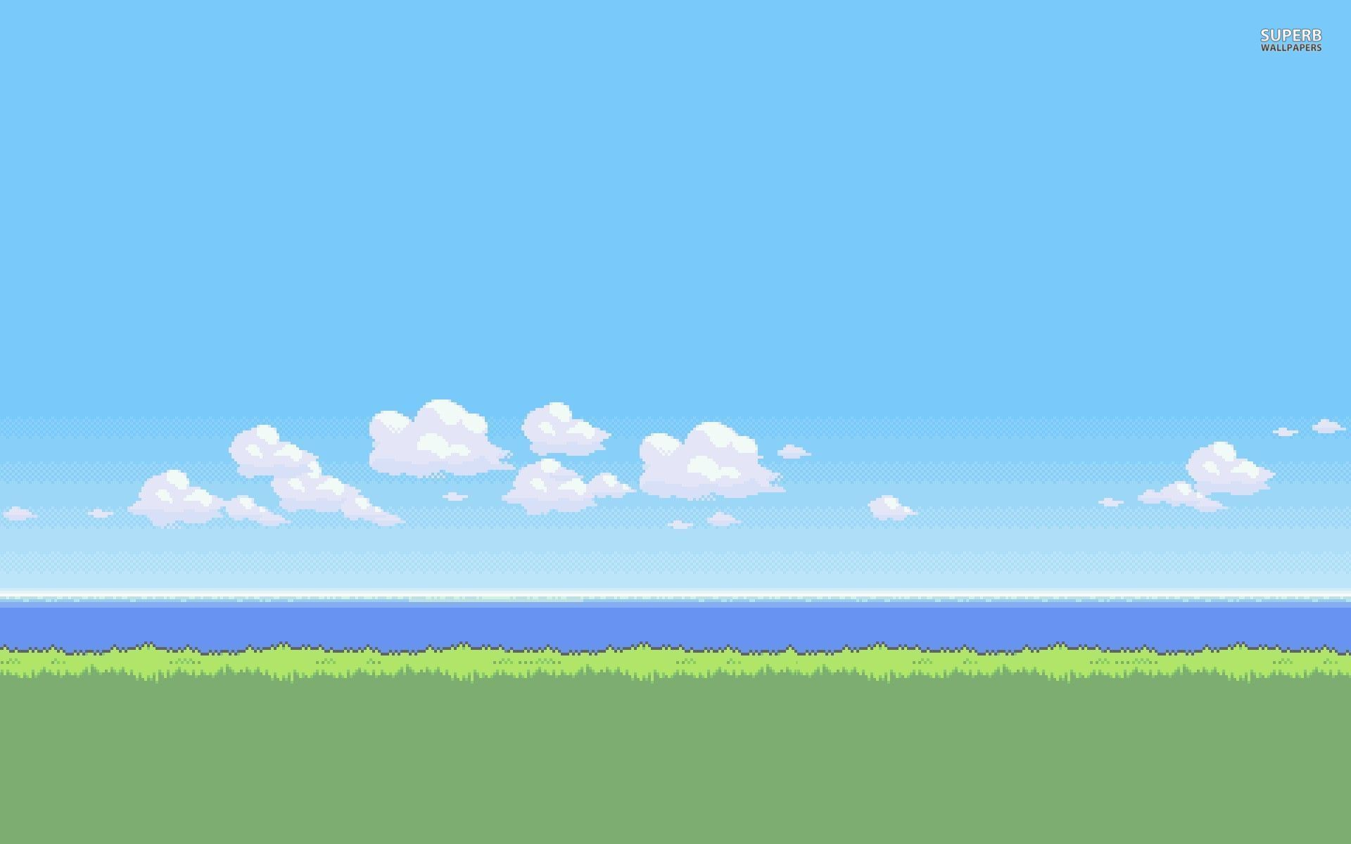 Hd Bit Backgrounds Pixel Art Art Wallpaper Landscape Artwork