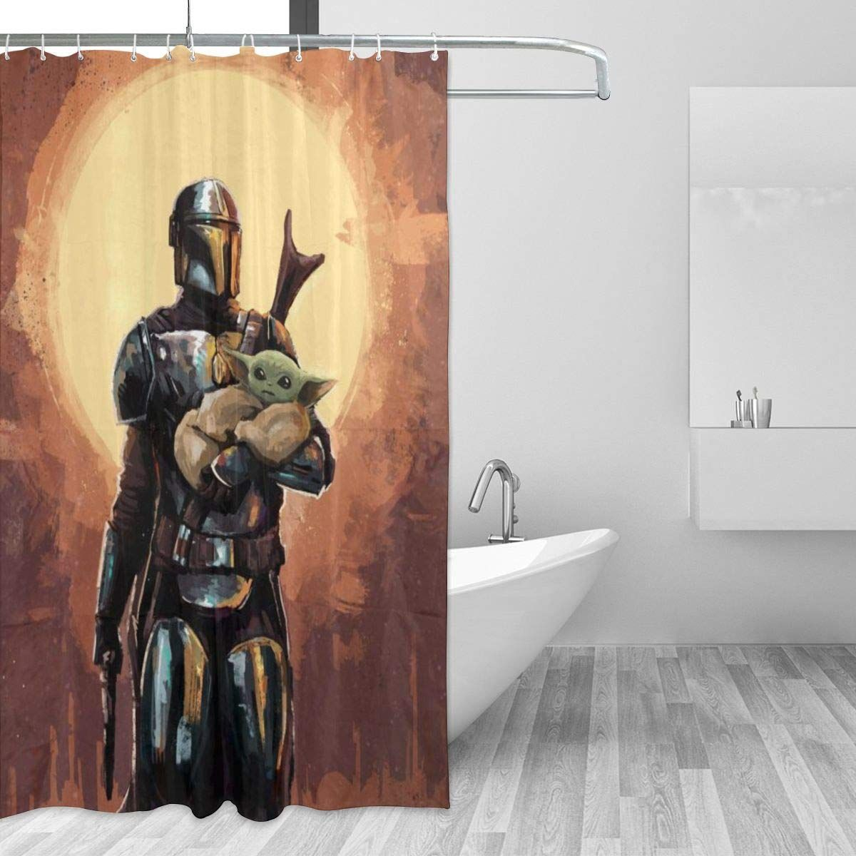 Star Wars Mandalorian Shower Curtains In 2020 Star Wars Bathroom