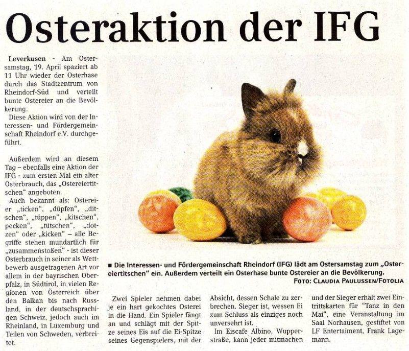 Osteraktion IFG - Unser Rheindorf