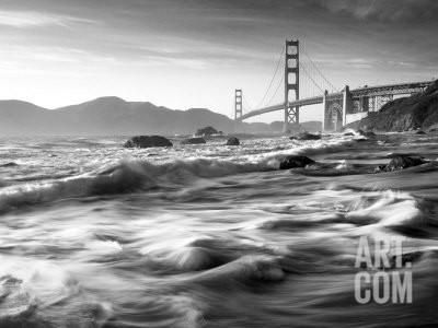 California, San Francisco, Golden Gate Bridge from Marshall Beach, USA Photographic Print by Alan Copson at Art.com