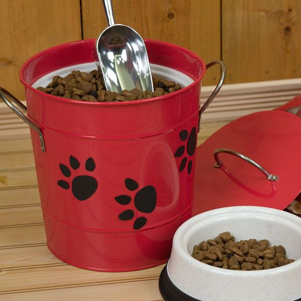debbie mumm insulated ice bucket turns into storage for dog or cat food