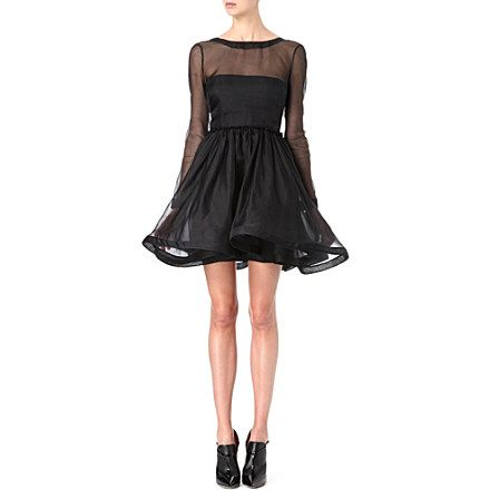 VALENTINO Sheer silk-organza prom dress (Black | Wedding | Pinterest ...