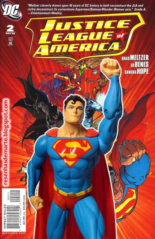 Resenhas de Marte: DC Direct Justice League Of America Superman ( Super-Homem )