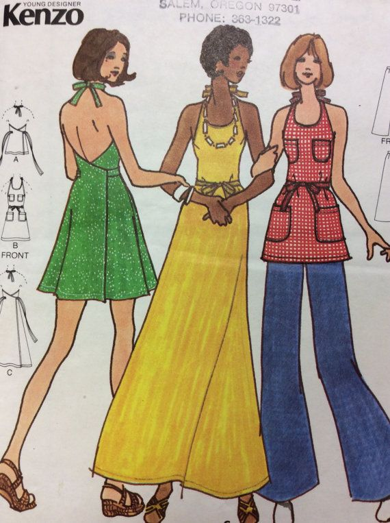 2686b7dbe2cd Vintage Butterick Sewing Pattern © 1970s Design by Young Designer ...