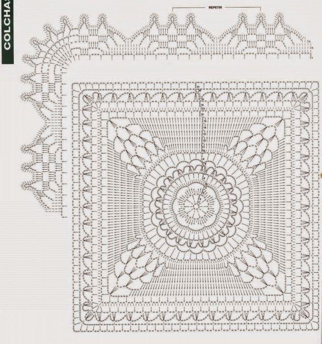 Melissa Melina Crochet: Couvre lit 1 au crochet patron gratuit ...