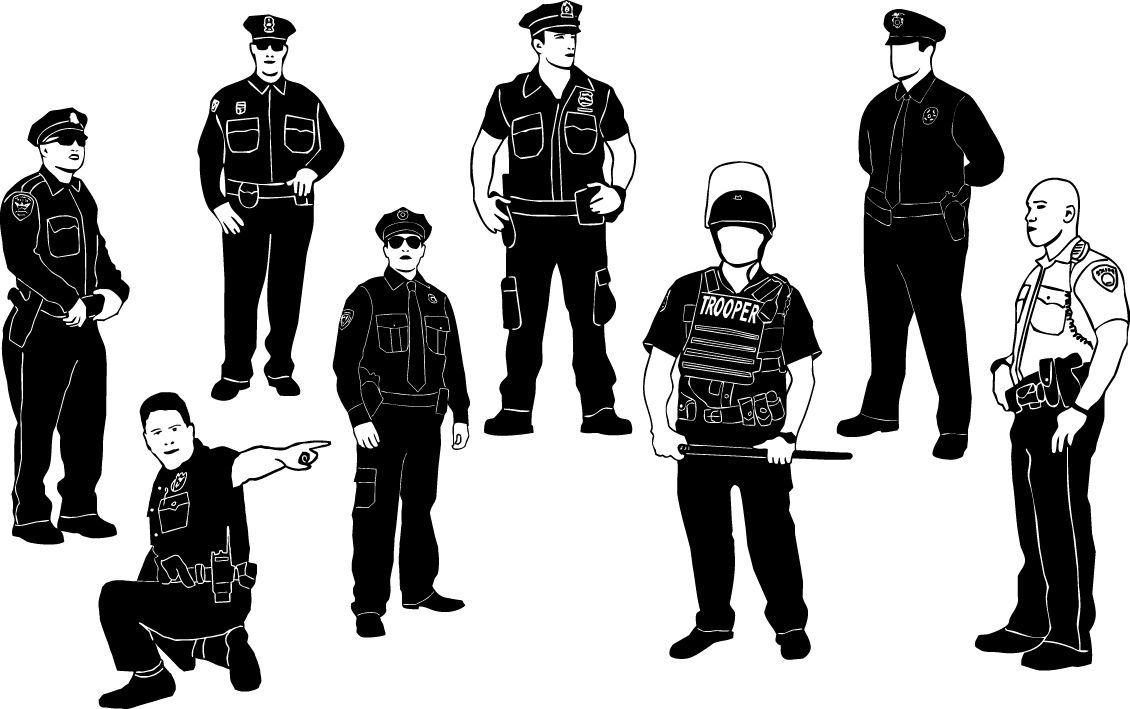 Cops Policeman Silhouettes Crime Danger Guard Officer Policeman Protect Safe Safety Security Security P Silhouette Silhouette Vector Silhouette Png