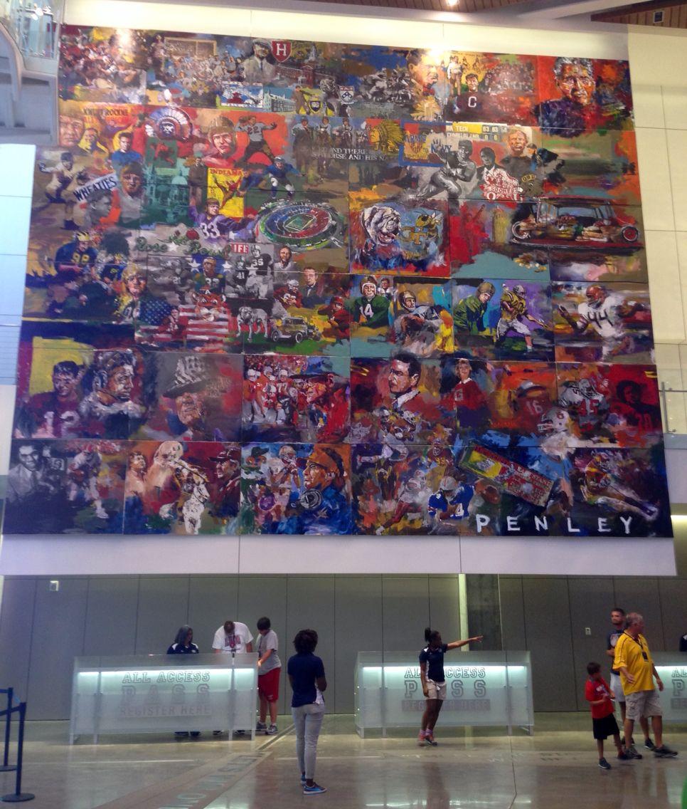 College Football Hall Of Fame Steve Penley Mural Atlanta Ga